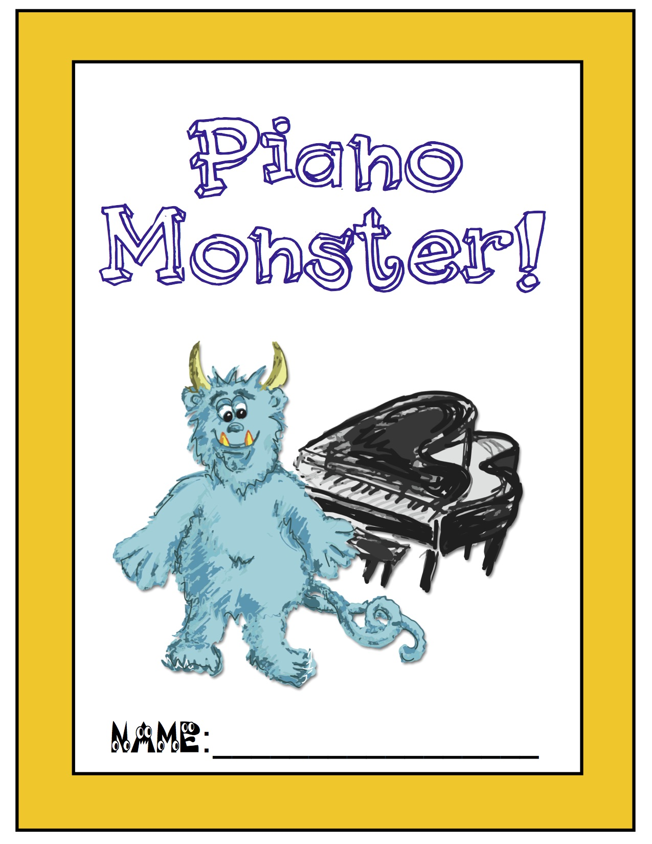 Piano Monster Assignment Book Image