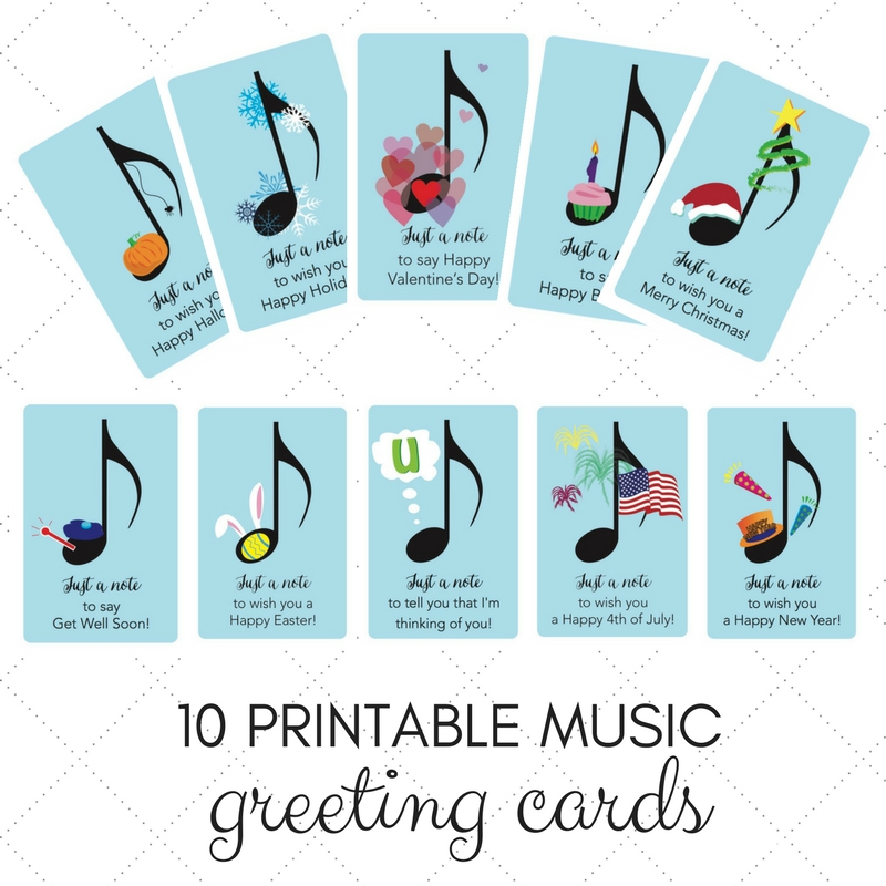 10 Musical Holiday Greeting Cards Image
