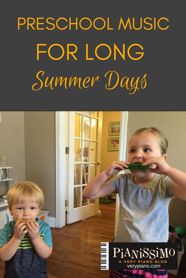 Preschool Music At Home On Long Summer Days