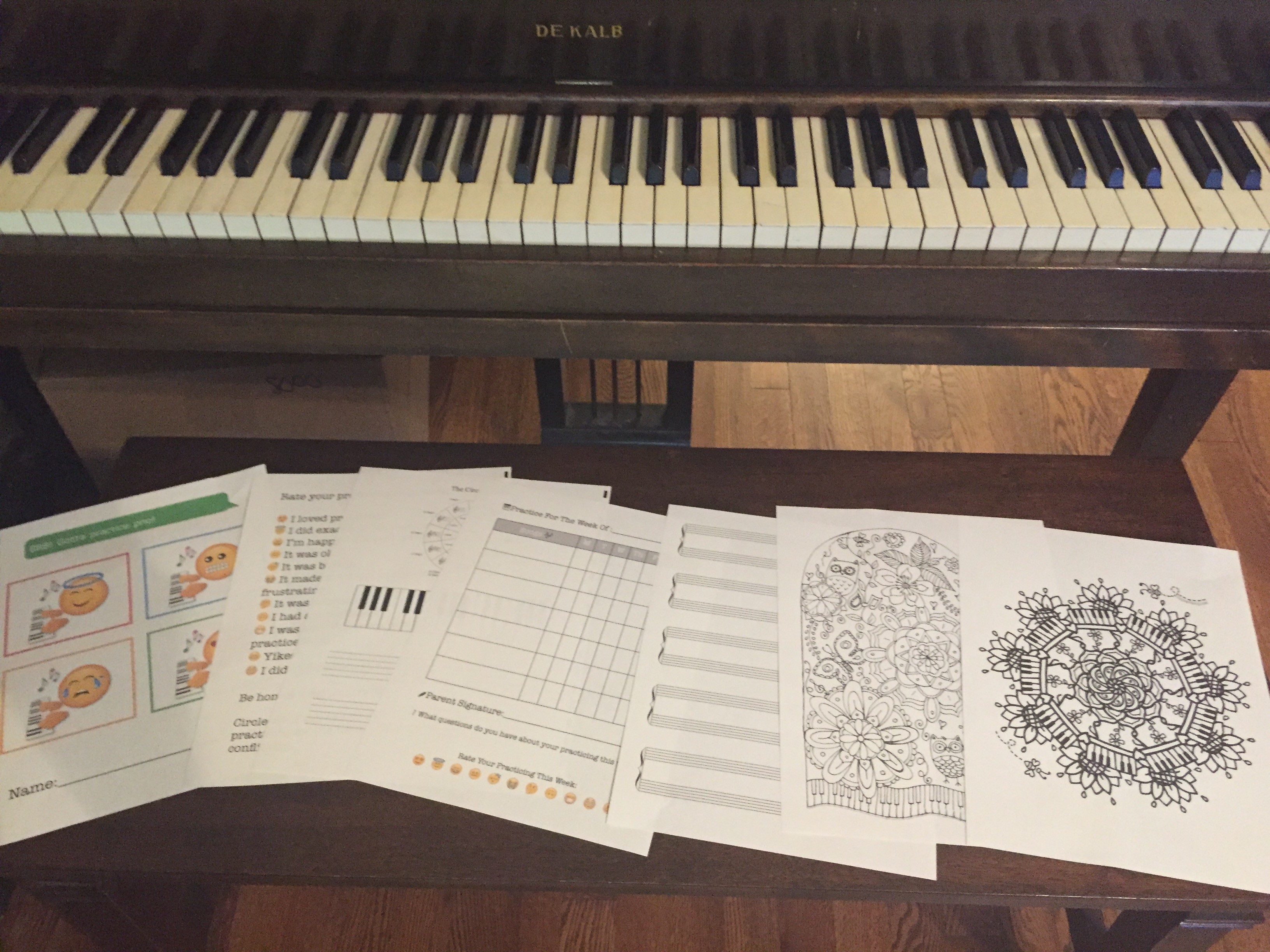 Emoji Assignment Book and 25% off in the Pianissimo Store