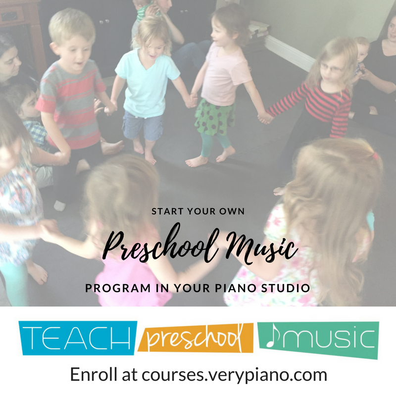 Teach Preschool Music – Course For Piano Teachers