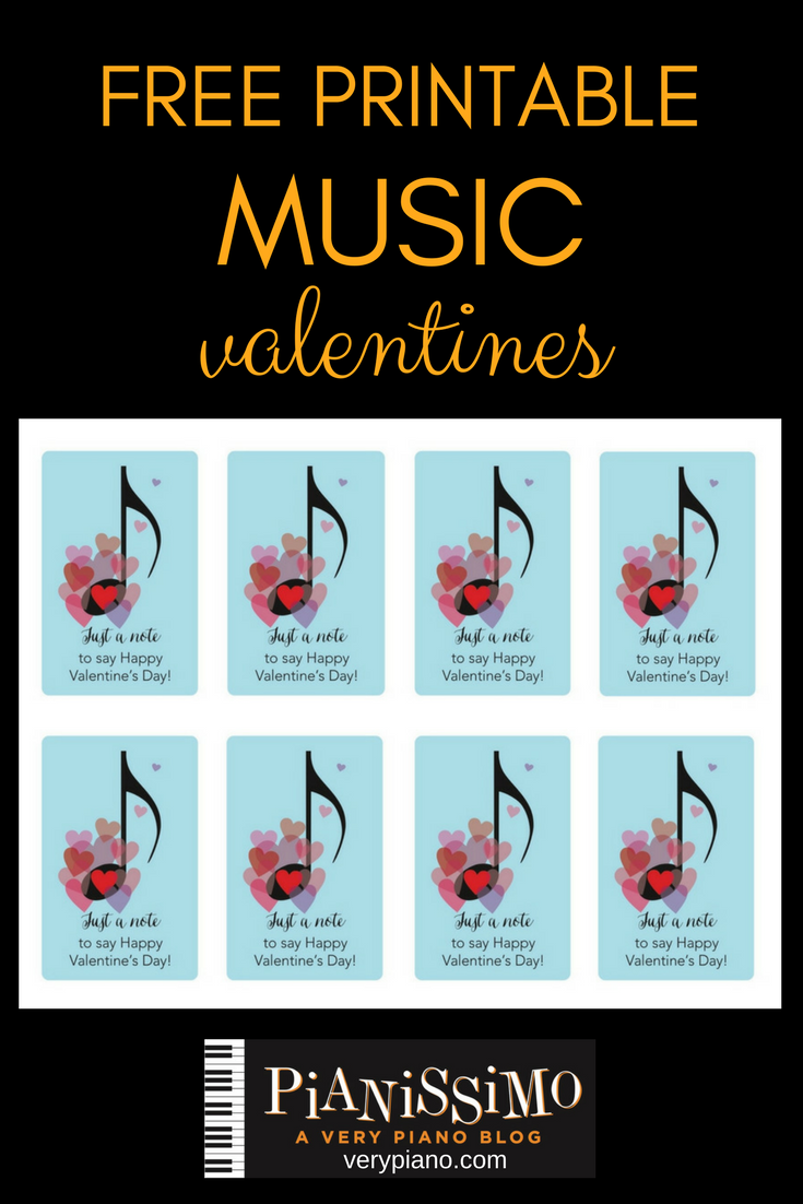 graphic about Valentine Printable called Totally free Printable Valentine Playing cards pianissimo