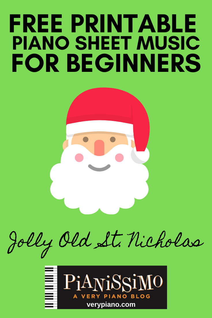 Free Easy Piano Sheet Music: Jolly Old
