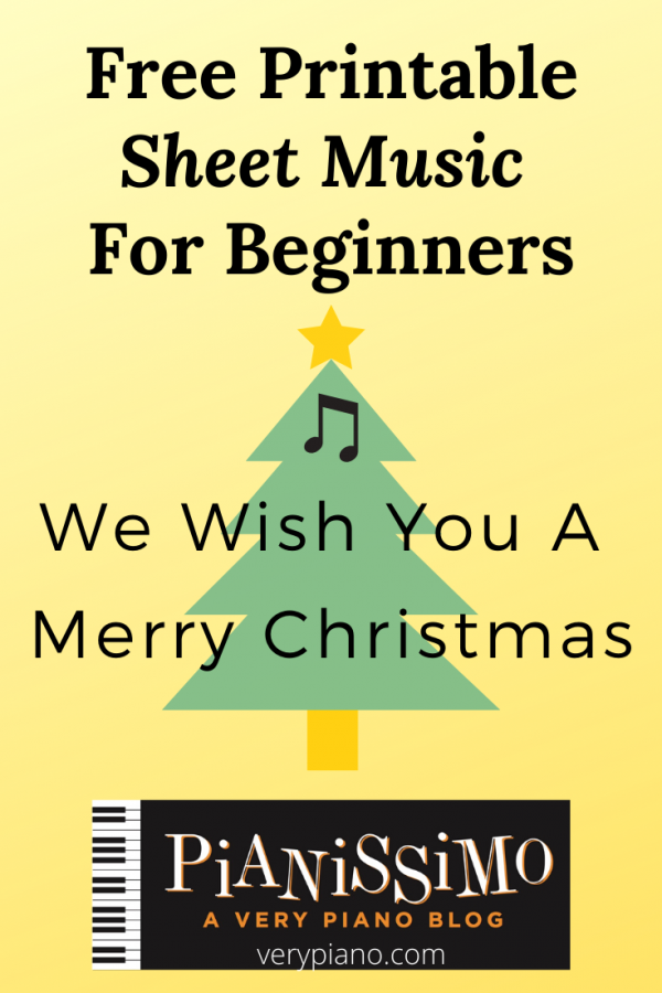 Free Easy Piano Sheet Music: We Wish You A Merry Christmas